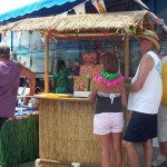 Margaritaville Bus with our portable Tiki Bar