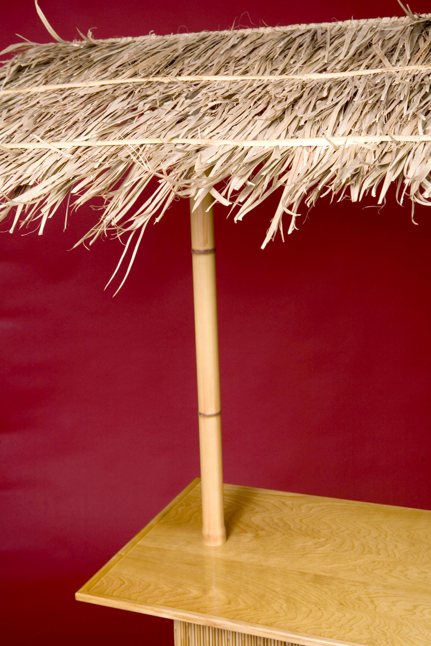 Tiki Bar Features - PVC Bamboo Uprights