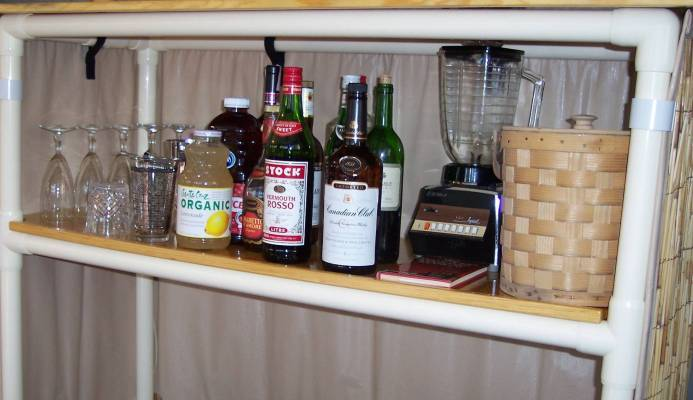Tiki Bar Features - Additional Storage Shelf