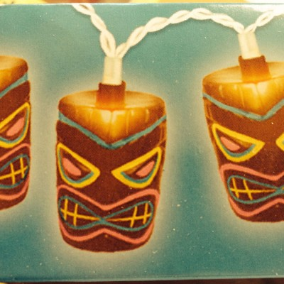 Tiki mask lights for a Tiki Bar