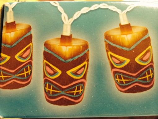 Tiki mask lights for a Tiki Bar