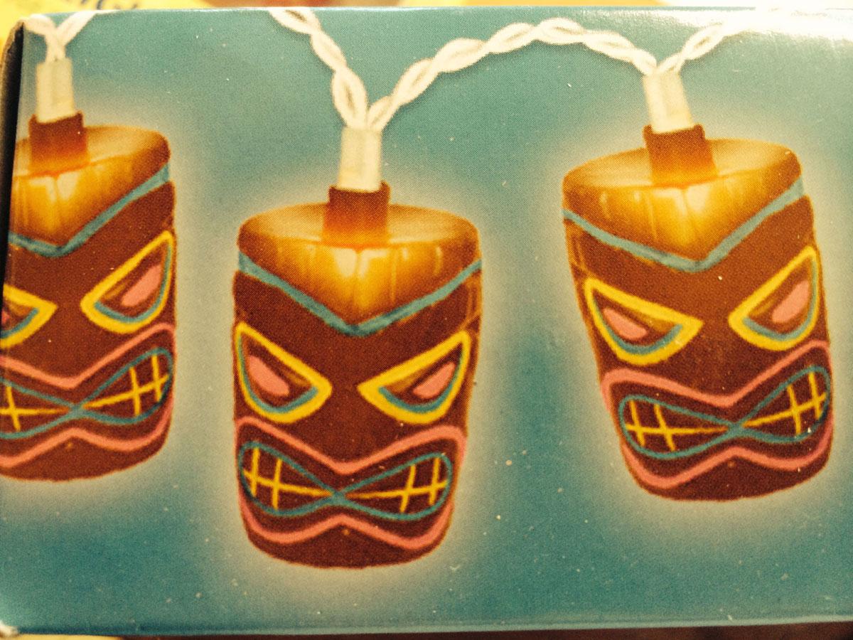 Tiki Mask Lights For A Bar